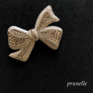 グルーデコスキルアップレッスンのclassical bow brooch