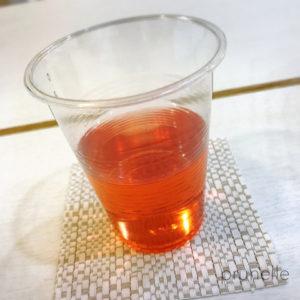 きれいな赤茶色の五味子茶