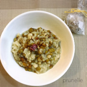 緑豆とハトムギの薬膳粥