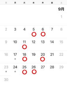 グルーデコ・アクセサリー教室の8月レッスンカレンダー