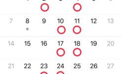 グルーデコ・アクセサリー教室の10月レッスンカレンダー