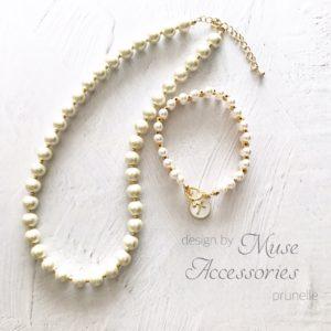 Muse Accessoriesパールのネックレスとブレスレット