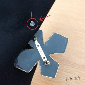 ブローチの落下防止方法