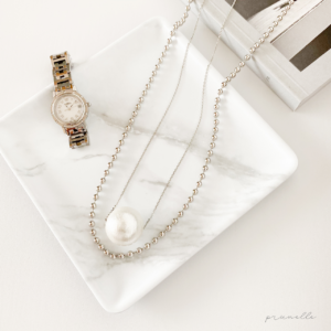 Muse Accessoriesボールチェーンとパールのネックレス